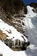 Frozen waterfall near Engelberg