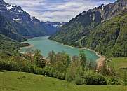 Lake Kloentalersee in spring