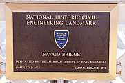 Navajo Bridge Hiweistafel National Historic Civil Engineering Landmark