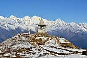Gompa on a peak in Himalaya mountains
