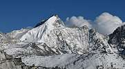 Snow covered Mehra Peak