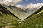 Down to the valley in Pyrenees