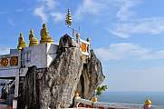 Buddhist mountainpeak temple in Thailand