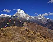 Annapurna South and Hiun Chuli, view from Muldhai hill