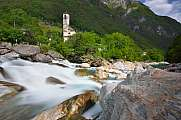 Church Madonna degli Angeli with waterfall