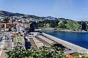 View at the docks of Getaria city in Spain