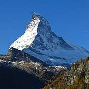 Matterhorn view from Zermatt square