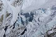 Glacier on mount Nuptse