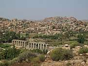 Ruin of a bridge in Hampi India
