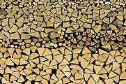 Stacked firewood background