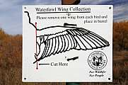 Waterfowl Wing Collection Colorado Division Sign