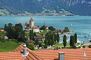 Schloss Spiez castle at lake Thunersee