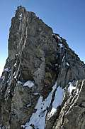 Climbers enter the summit of Finsteraarhorn