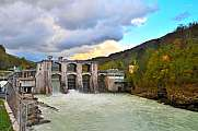 Hydroelectric power station in Soča river