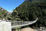 Suspension bridge Everest Trek Route