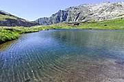Blue water Lake at Gotthard pass