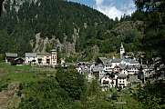 The rural village of Fusio on Maggia valley