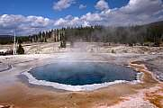 Bunter Geysir im Upper Geyser Basin, Yellowstone Nationalpark, USA