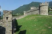Montebello castle at Bellinzona on Switzerland