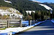 Winter mountain road Alps austria Rauris