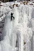 Ice climber in Engelberg
