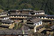 Beautiful Gurung village Ghandruk, Annapurna Conservation Area,