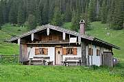 rustic mountain hut at the Bavarian alps