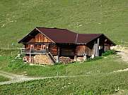 Traditional old farm house in the Bernese Oberland